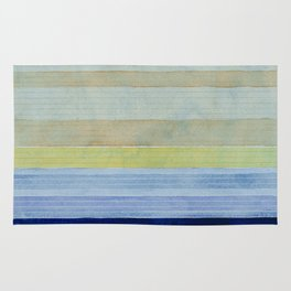 Colorbands Daylight Blue and Yellow Rug
