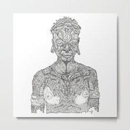 The Zulu Is In My Body Metal Print