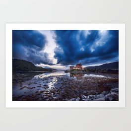 Dark Skies at Eilean Donan Castle Art Print