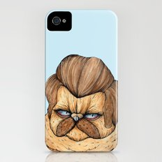 Ron Swanson Cat iPhone (4, 4s) Slim Case