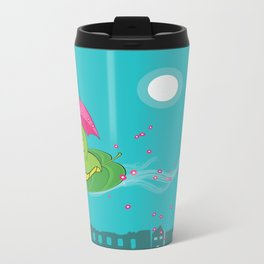 Night Flight of the Inchworm Metal Travel Mug
