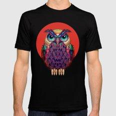 OWL 2 Mens Fitted Tee MEDIUM Black