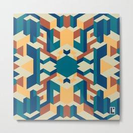 Isometric Random Cubes Metal Print