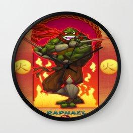 Raphael - classic face - Teenage Mutant Ninja Turtles TMNT Wall Clock