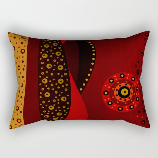 Red spring Rectangular Pillow