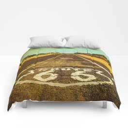 Route 66 Road Marker Comforters