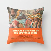 eternal sunshine of the spotless mind Throw Pillows featuring Eternal Sunshine Of the Spotless Mind - Michel Gondry by Smart Store