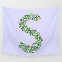 Leafy Letter S Wall Tapestry