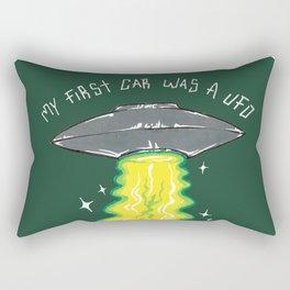 My First Car Was A UFO Rectangular Pillow