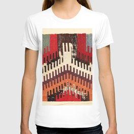Afyon Central Anatolian Kilim Fragment Print T-shirt