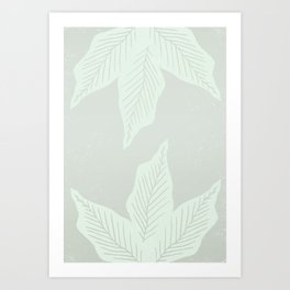 Surrounded By Plant Lovers - Light Green Art Print