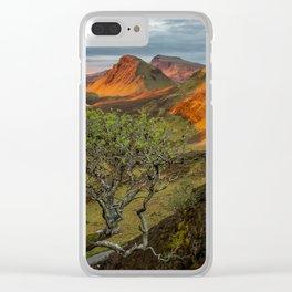 Sunrise in the Quiraing mountain landscape Clear iPhone Case