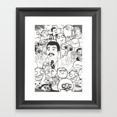 Meme P&B Framed Art Print