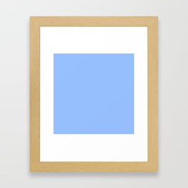 Soft Cooling Blue - Color Therapy Framed Art Print
