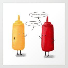 Mustard & Ketchup. Art Print