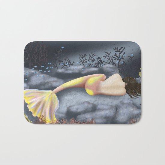 Sleeping Mermaid Bath Mat