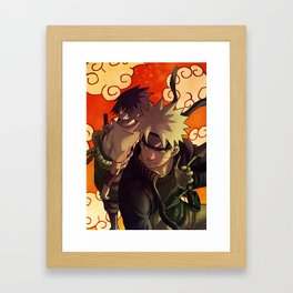 Naruto and Sasuke Fanart Framed Art Print
