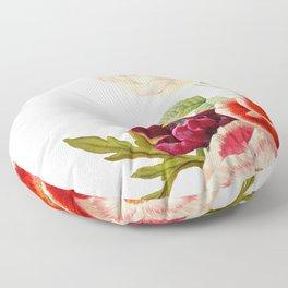 romantic floral design Floor Pillow