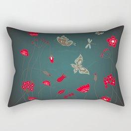 Tatemae Japanese Green Rectangular Pillow