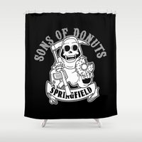 gemma Shower Curtains featuring Sons Of Donuts / Full version by Adrien ADN Noterdaem