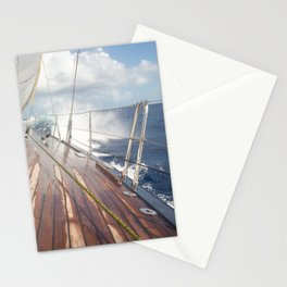 sailing in rough seas- nautical photography- ocean Stationery Cards