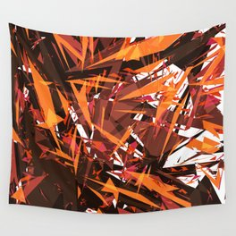 red & spiky Wall Tapestry