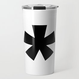 Asterisk (Black & White) Travel Mug