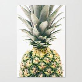Tropical Pineapple Fruit Canvas Print