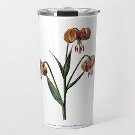 Turk's Cap or Yellow Martagon Lily Antique Old Travel Mug