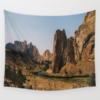 melissa smith Wall Tapestries featuring Smith Rock by K Creative