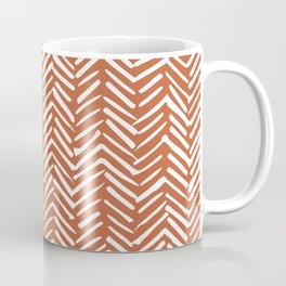 Boho, Herringbone, Mudcloth, Terracotta Coffee Mug