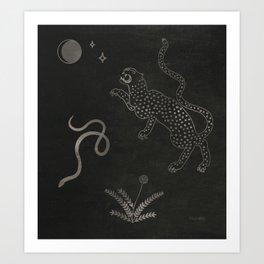 Desert Prey Ink Art Print