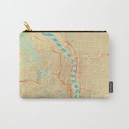 Portland Map Retro Carry-All Pouch