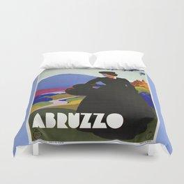 Abruzzo Italian travel Lady on a walk Duvet Cover
