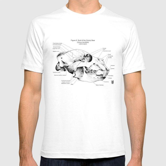 Bear skull anatomy T-shirt by yeagerart | Society6