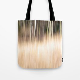 Abstract forest; intentionally blurred by camera shake Tote Bag