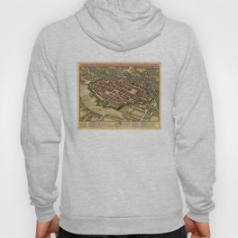 Vintage Map of Wroclaw Poland (1752) Hoody