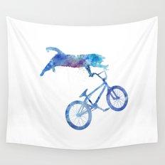 BMX Cat Wall Tapestry