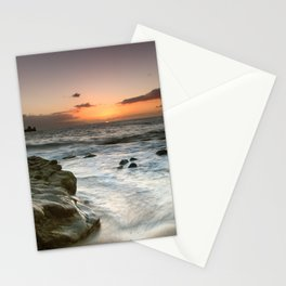 Sunset Over the Rocks Stationery Cards