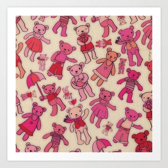 Teddies! Art Print