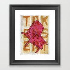 Come On In...Take A Red Seat Framed Art Print