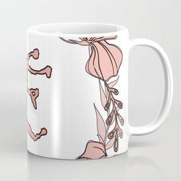 Letter E Rose Pink Initial Monogram - Letter e Coffee Mug