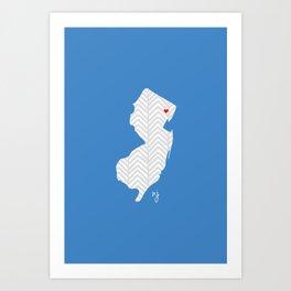 New Jersey Love Art Print
