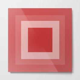 Reddish Square Design Metal Print