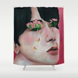Seok jin BTS Shower Curtain