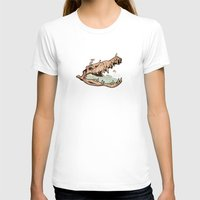 animal skull T-shirts featuring Animal Skull and birds by Paula Belle Flores