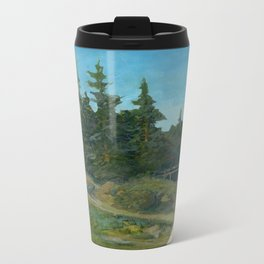 Repainted Thrift Store Painting with AK  Metal Travel Mug