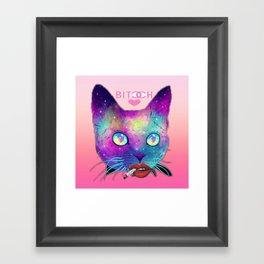 Bitch Face Framed Art Print
