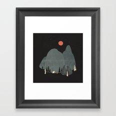 Last Night at Big Rock... Framed Art Print