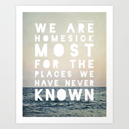 Homesick Art Print